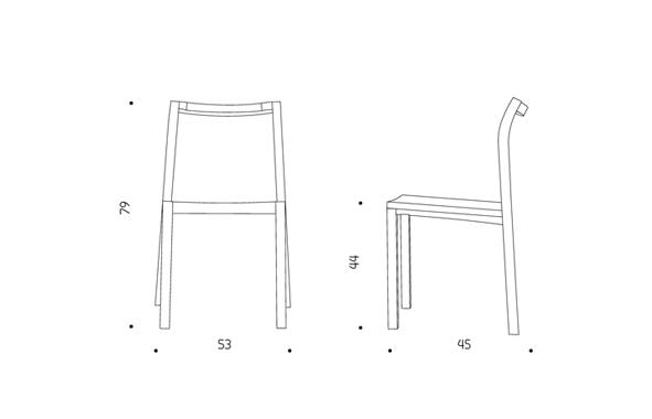 Hatsu chair dimension