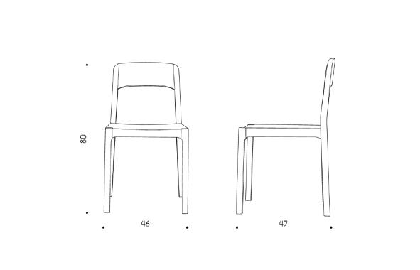 SnowHat chair dimension