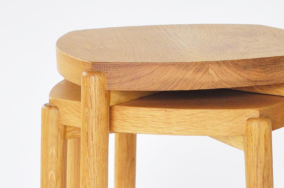 Moku stool สตูลไม้ เก้าอี้สตูลไม้ ไม้โอ๊ค 7