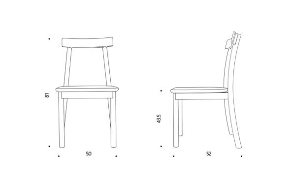 Mori chair ขนาดเก้าอี้